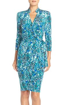 Maggy London Print Wrap Dress available at #Nordstrom