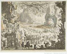 La tentation de saint Antoine. Première planche, 1er état ; Jacques Callot, 1615-1617. Eau-forte