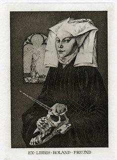 Exlibris of Roland Freund by K.Kalinovich