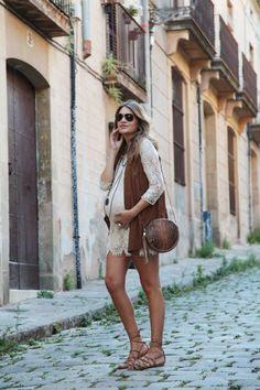 Cómo vestir con un bombo y estar rebonita, looks de embarazada. #pregnant #muymolon #looks #fashion
