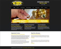 Ace Lock Security Website Design - Raven Media, Website Design, Print Design, and Photography Safe Vault, Mobile Friendly Website, Web Design Projects, Home Protection, Raven, Print Design, Crows, Print Layout, Ravens