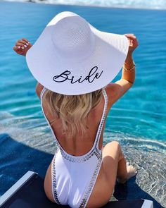 Bride to Be Floppy Beach Hat - perfect bridal shower or engagement gift!