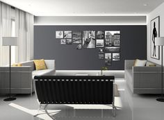Una sala perfecta con cuadros que inspiran viajes