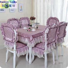 Ideas Sewing Table Cover Tutorials For 2019 Furniture Covers, Chair Covers, Table Covers, Bed Cover Design, Sewing Table, Dining Table Chairs, Decoration Table, Upcycled Furniture, Soft Furnishings