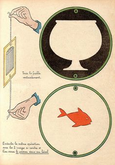 Fish in a fishbowl thaumatrope--like how the black surrounding the fishbowl enhances the effect Fun Crafts, Crafts For Kids, Arts And Crafts, Paper Crafts, Victorian Crafts, Up Book, Paper Models, Paper Toys, Stop Motion