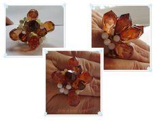 Außergewöhnlicher Ring mit großen Steinen und Perlmutt-Perlen http://facileetbeaugusta.blogspot.de/