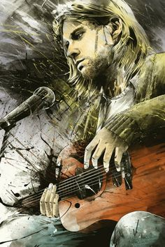 My favorite Kurt art. Captures his emotion throughout the whole performance