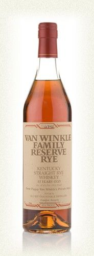 VAN WINKLE FAMILY RESERVE RYE 13 YEAR OLD.  13 year old Kentucky rye, from Pappy Van Winkle's private stock. Excellent complex whiskey that should appeal to malt whisky fans for its quirky character. Jim Murray scores it 91 too.  #whisky #whiskey £61.45