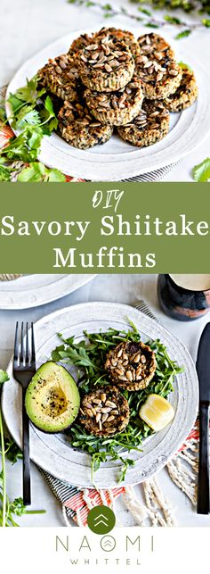 Low Day Recipe: Savory Shiitake Muffins with Sunflower Seeds Easy Cooking, Healthy Cooking, Real Food Recipes, Healthy Recipes, Cooking Recipes, Yummy Food, Green Salad Dressing, Baby Spinach Salads, How To Cook Polenta