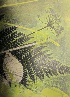 Small original fine art botanical monoprint. by fieldandhedgerow