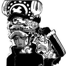 one piece, trafalgar law, chopper, manga, anime