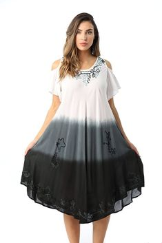 b6af85fc627 Riviera Sun Cold Shoulder Ombre Casual Sundress for Women. More  information. More information. Riviera Sun Ombre Tie Dye Summer Dress ...