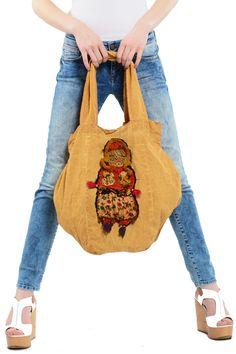 Otantik Ahu Figür Çanta Modelli - Kadın Giyim