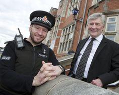 Tony Lloyd, Police and Crime Commissioner for Greater Manchester, pays a visit to the new Failsworth Police Post to mark the official unveiling of the new blue lamp. www.gmpcc.org.uk