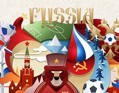 """Check out new work on my @Behance portfolio: """"Russia 2018 FIFA World Cup Illustrative Poster"""" http://be.net/gallery/31187883/Russia-2018-FIFA-World-Cup-Illustrative-Poster"""