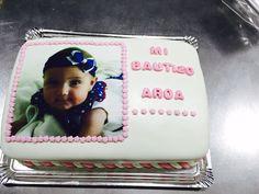 Tarta realizada para el bautizo de Aroa por encargo de su mamá.  ¡Felicidades! #pontuvidaendulce #FerHoDols