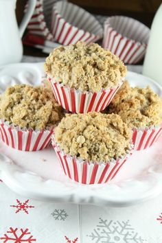 Chocolate Chunk Coffee Cake Muffins Recipe with Red Star Yeast from MissintheKitchen.com #sponsored..Made with yeast
