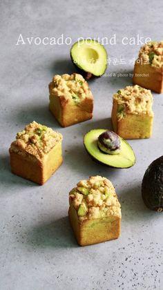 아보카도 파운드 케이크 (동영상) : 네이버 블로그 Bakery Recipes, Dessert Recipes, Desserts, Japanese Bakery, Avocado Cake, Bakery Packaging, Sweet Cooking, Big Cakes, Biscuits