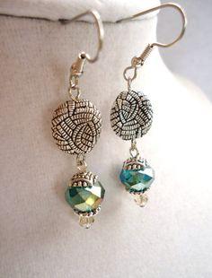 Beautiful Layered Silver & Teal Crystal by ViperCoraraDesigns, $8.00