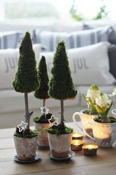 Moss Covered Christmas Trees - So Simple To Do..... (1) Styrofoam Tree Form (1)…
