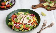 Krůtí prsa s avokádovým salátem Thing 1, Lidl, Cobb Salad, Meat, Chicken, Food, Marceline, Cilantro, Red Peppers