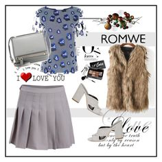 """""""Romwe 9"""" by aida-1999 ❤ liked on Polyvore featuring DVF, Rebecca Minkoff, Givenchy and Bobbi Brown Cosmetics"""