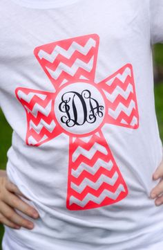 Chevron Cross Custom Monogram Shirt by CutesyTDesigns on Etsy