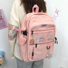 Cute School Bags, School Bags For Girls, Harajuku Fashion, Fashion Outfits, Harajuku Style, Style Fashion, Study Outfit, Kawaii Bags, Cute Backpacks