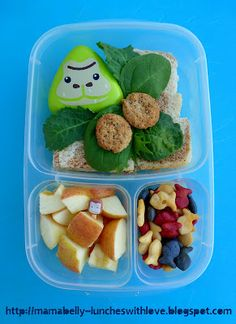 G is for Gorilla, kid friendly lunch.
