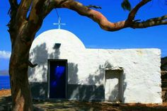 Beautiful chapel in Astypalaia Island...Greece....