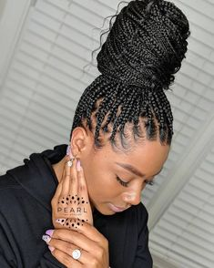 Box Braids Hairstyles, Braided Hairstyles For Black Women, Bandana Hairstyles, Baddie Hairstyles, Braids For Black Hair, My Hairstyle, Prom Hairstyles, Box Braids Updo, Hairstyles Games