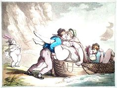 Two couples have sex in a boat on the beach, while in the background a standing woman urinates. No later than Rowlandson's death year of 1827 Art Through The Ages, English Artists, Historical Art, Erotic Art, Painting & Drawing, Photo Art, Comic Books, Tapestry, History