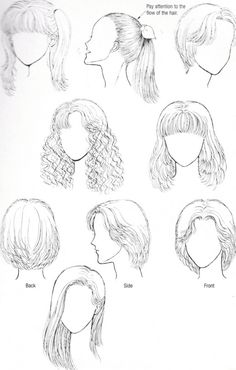 how to draw easy hairstyles