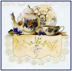 tea time art... by Sandy Lynam.