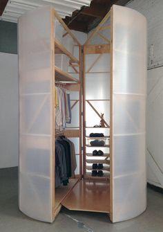 """Tuberoom - translucent hinged walk-in closet"" https://sumally.com/p/902635"