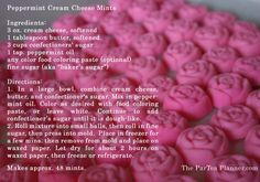 rose shaped peppermint cream cheese mints