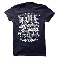 #Statestshirt... Nice T-shirts Worth :$23.00Purchase Now Low cost Codes View photographs & pictures of I Majorted In Civil Engineering t-shirts & hoodies:For those who don't completely love our design, you possibly can SEARCH your favourite one through th....
