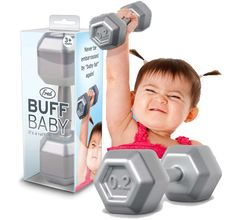 LOL! Baby Buff Dumbell Rattle - Unique Stocking Stuffers $7.95