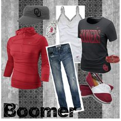 Boomer Sooner (idk what a moomer is or what the shirt say but the outfit is cute anyway :P)