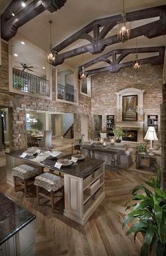 Beautiful Open Concept & Stone