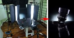 In this article I will show you the basics of how to do dark field and bright field lighting and a quick way to convert any softbox into a striplight using