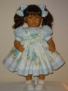 Dress  and Matching Bows for 20-24 inch Lee by SewbeitsDollWear