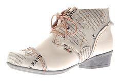 TMA Damen Stiefelletten Echtleder Schuhe Comfort Leder Knöchelschuhe Weiß TMA 6109 Boots Gr. 42 - http://on-line-kaufen.de/tma/42-eu-tma-damen-stiefeletten-bunt-echtleder-leder-3