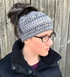 18 Free Messy Bun Hat Crochet Patterns - Make a Ponytail Beanie