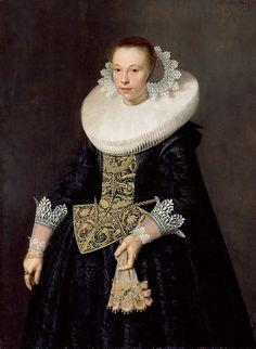 Музей Гетти (J. Paul Getty Museum): Пикеной Николас Элиас (Амстердам 1588-ок1655) - Женский портрет (144х115 см) 1632