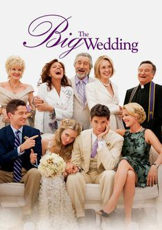 The Big Wedding. When their son is set to marry, a divorced couple must pretend to be happily married in order for the their adopted sons visiting mother will approve of the wedding. I didn't have any expectations for this movie, as I had never heard of it, though it had a good cast of well known actors. It was cute & funny & I actually ended up enjoying it.