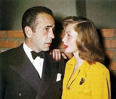 - Humphrey Bogart and Lauren Bacall (who is pretty damn dapper herself!)   - repinned from Nerissa Ngiruos