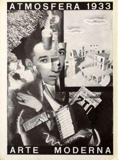 Giordano, il fratello di Bruno Munari è riconoscibile in un fotomontaggio del 1933