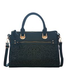 Look at this Black Floral Cutout Tote on #zulily today!