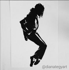 Michael Jackson Silhouette Pop Art Prints by DianaTegyArt on Etsy